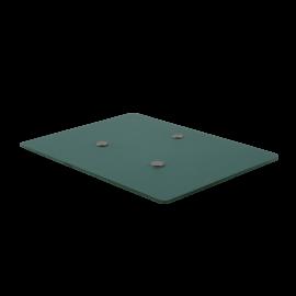 Base de cristal con imanes de posicionamiento