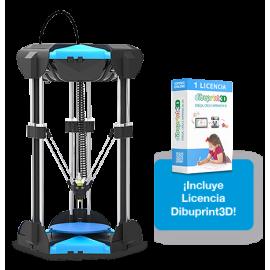 Impresora 3D COLIDO Delta D1315 PLUS + Dibuprint BASIC